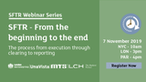 SFTR Webinar Series – SFTR from the Beginning to the End