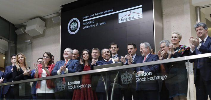 London Stock Exchange welcomes Fresnillo to celebrate 10