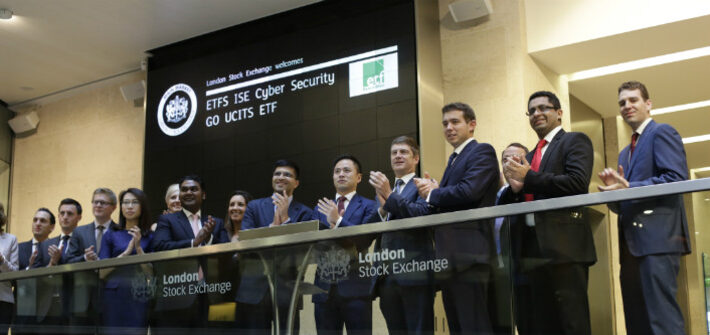 london stock exchange welcomes etfs ise cyber security go ucits etf