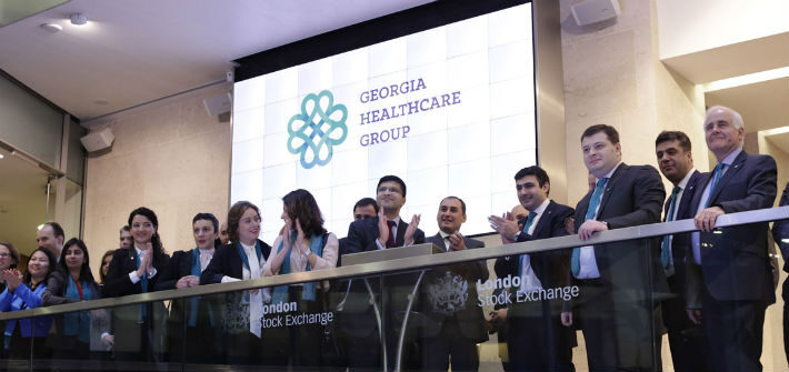 london stock exchange today welcomed georgia healthcare group plc