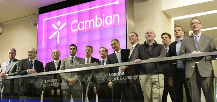London Stock Exchange open ceremony - Cambian Group Plc