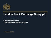 LSEG Preliminary Results for the period ended 31 December 2018 Presentation - Video